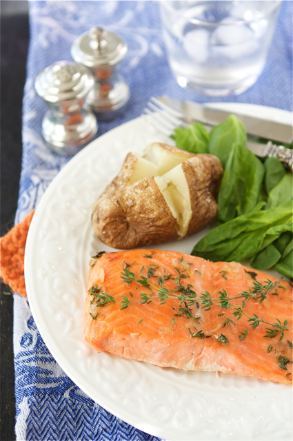Baked Trout (or Salmon) with Honey-Thyme Glaze Recipe | Flickr - Photo ...