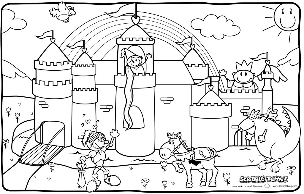 Princess And Knight Coloring Page