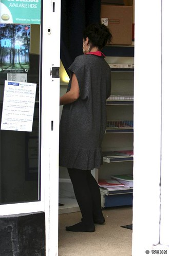 Girl in post office without shoes | by elizaaaa86