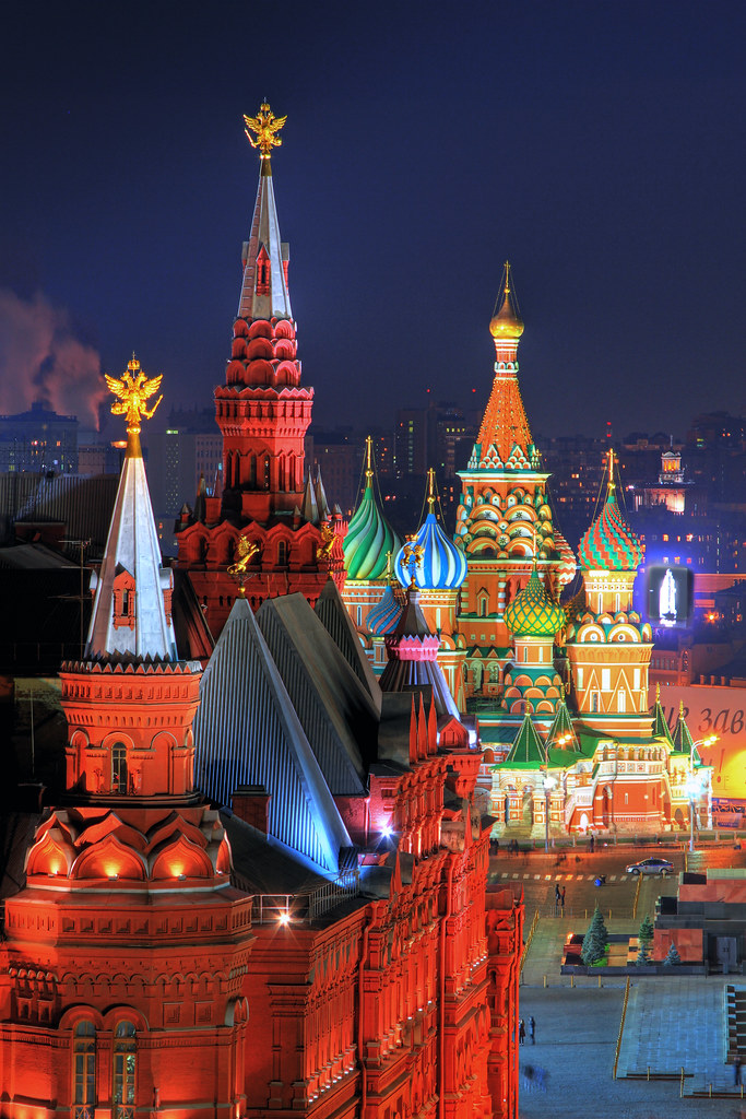 Moscow Russia Russland Moscow Moskau Night Nacht Red Squar Flickr