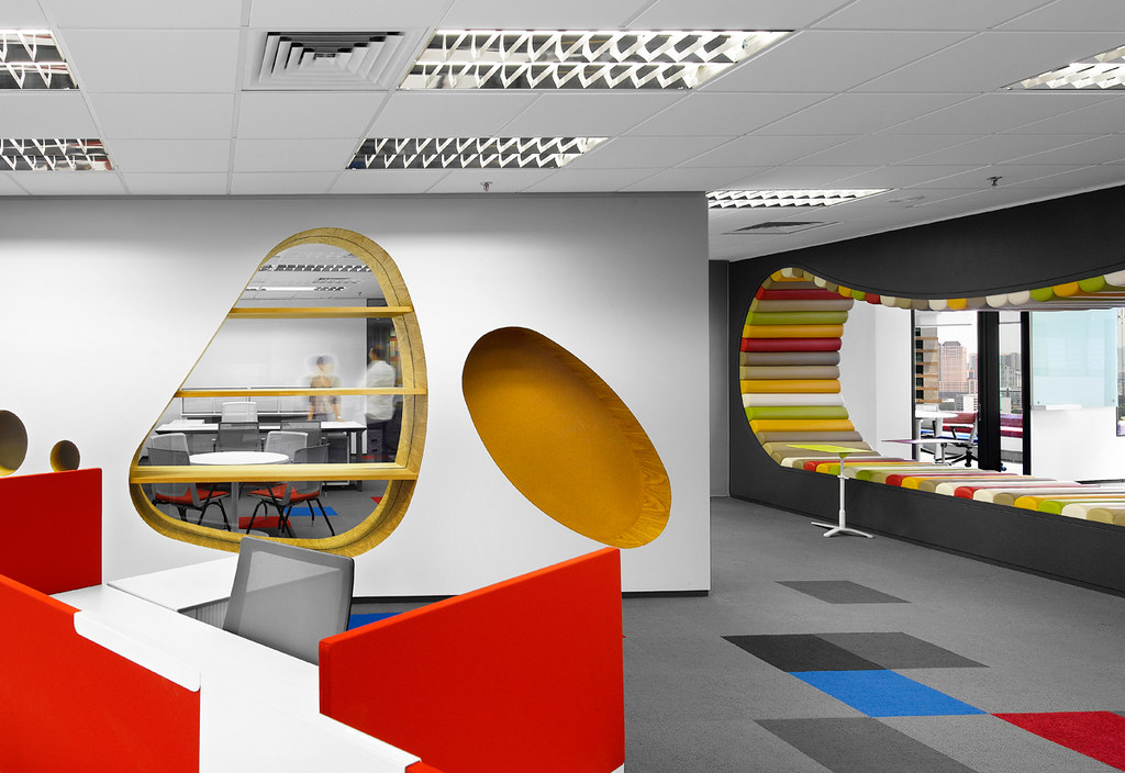 Creative office design by m moser associates m moser for Interior design office inspiration