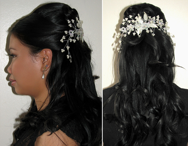 Asian Wedding Half Updo Hairstyle Victoria Flickr