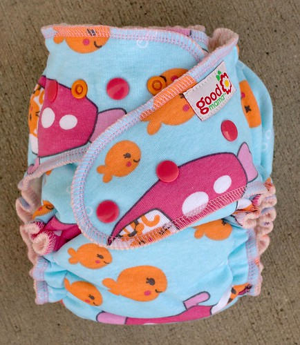 Fish Run One-Size Fitted Diaper | by thegoodmama.com