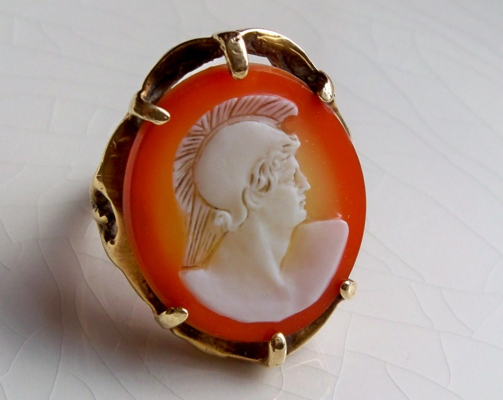 Carnelian White Gold Ring