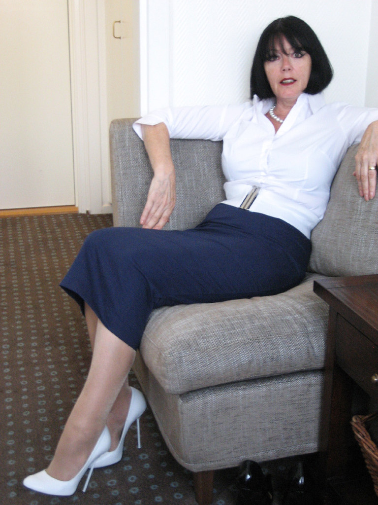 sarah of rosa in white ultra high round toe stilettos flickr. Black Bedroom Furniture Sets. Home Design Ideas