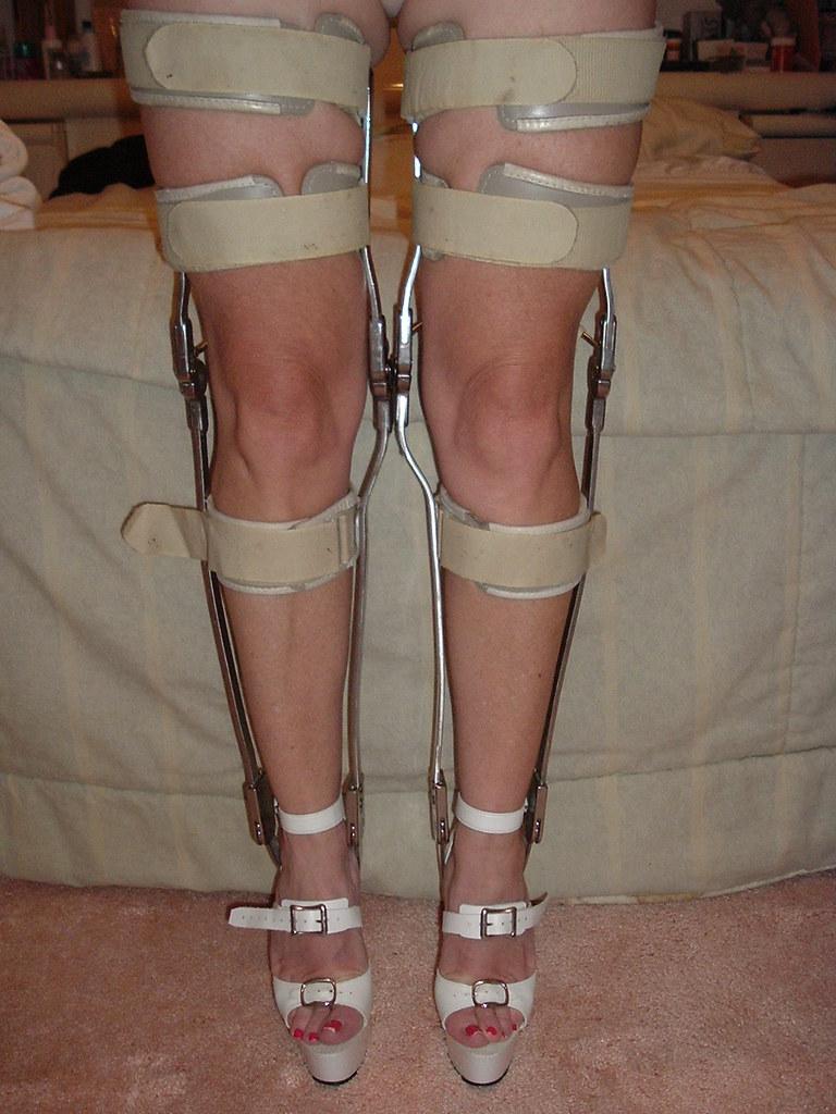 Taupe Leather Kafo Leg Braces Before Refinishing Flickr