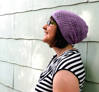 lace slouch hat | by lindamade
