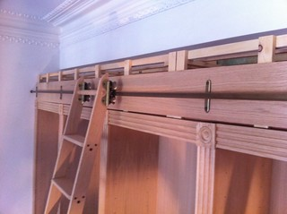 Fitting ladder to library cabinets | by johnclarkemills