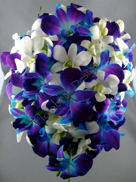 Blue Orchid Bridal Bouquet Wwwfbdesigncomau T45 Flickr