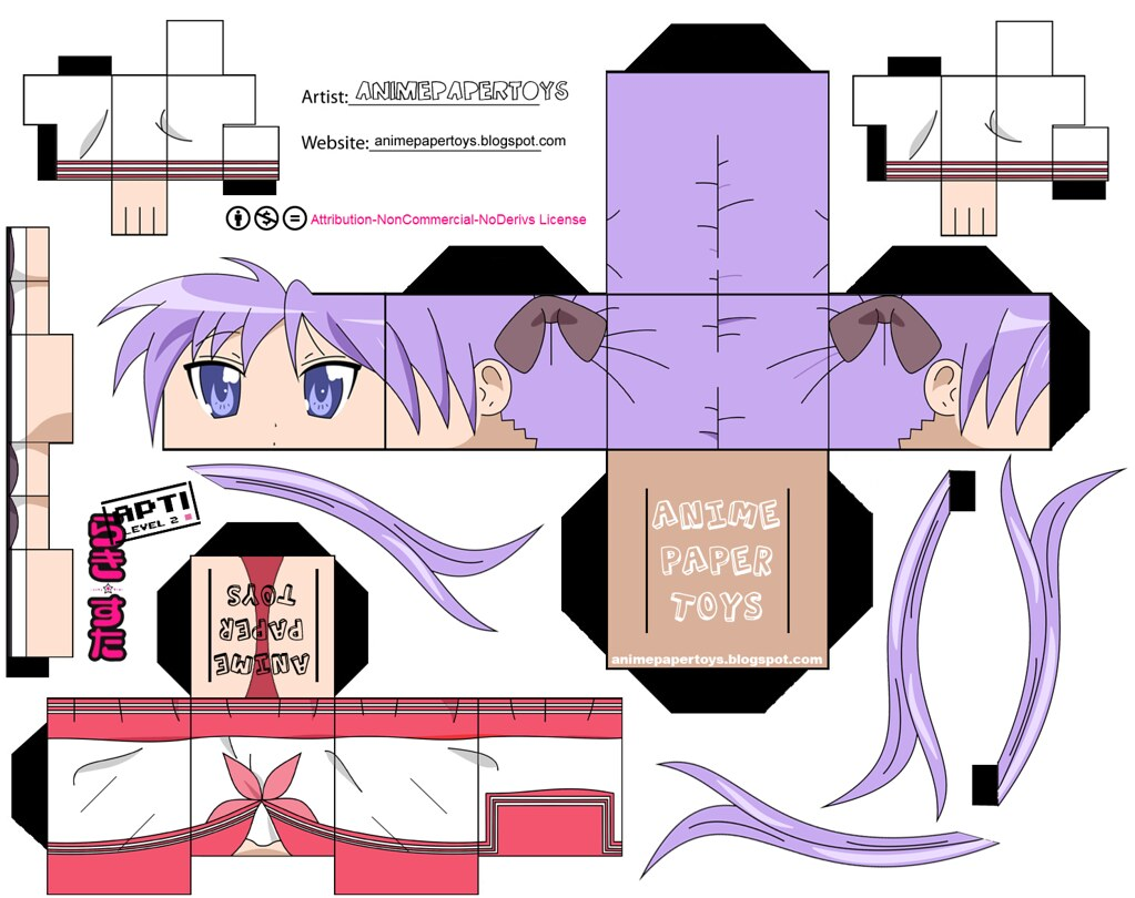 kagami hiiragi lucky star animepapertoys flickr