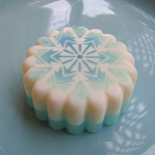Snowflake Stenciled Soap | by soapylovedeb
