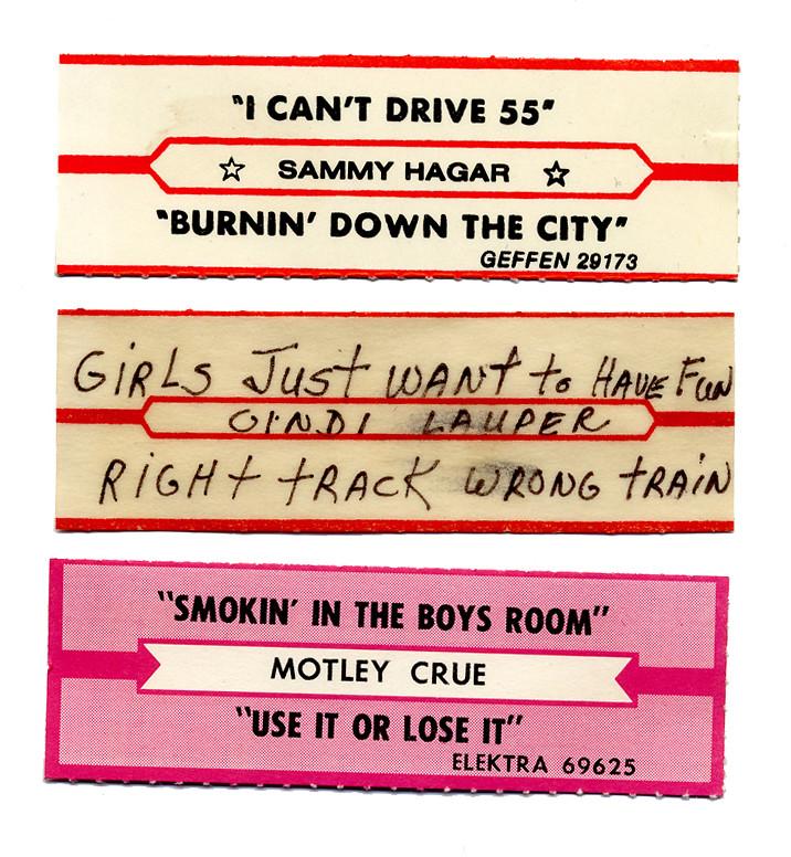 Jukebox title strips