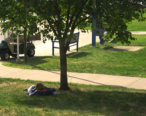 Catching some Zs | One student took a little time between ...