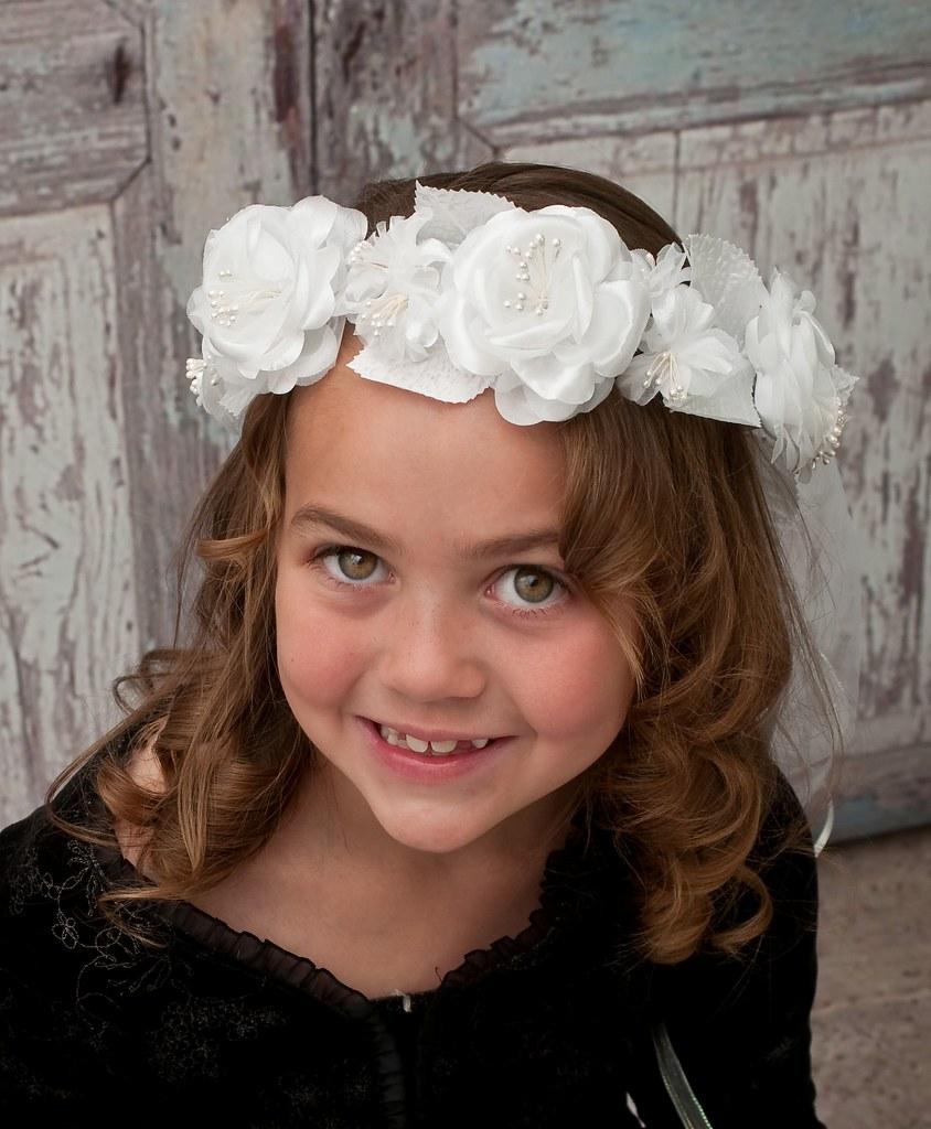 Flower Girl Head Wreath White Floral Halocrown Bridal H Flickr