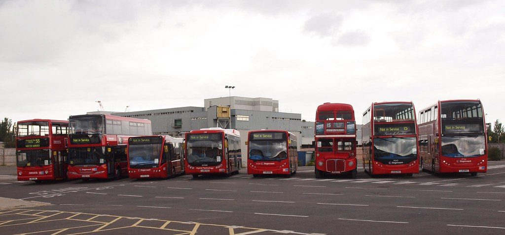 West Ham Bus Garage A Line Up Of Buses Was Prepared For