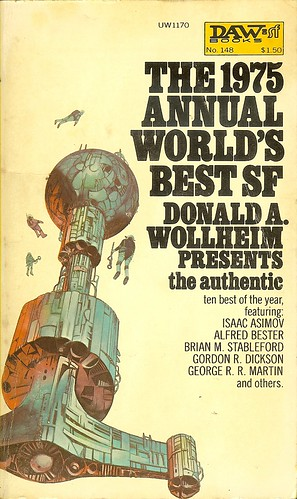 1975 Annual World's Best SF - edited by Donald A. Wollheim editor - cover artist Jack Gaughan