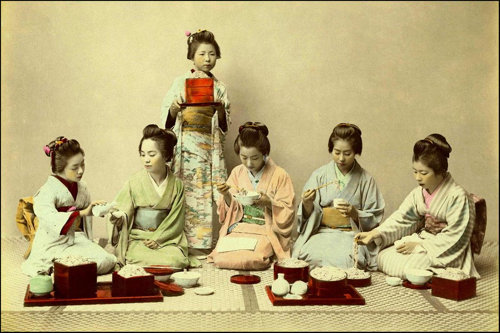 even geisha have to eat