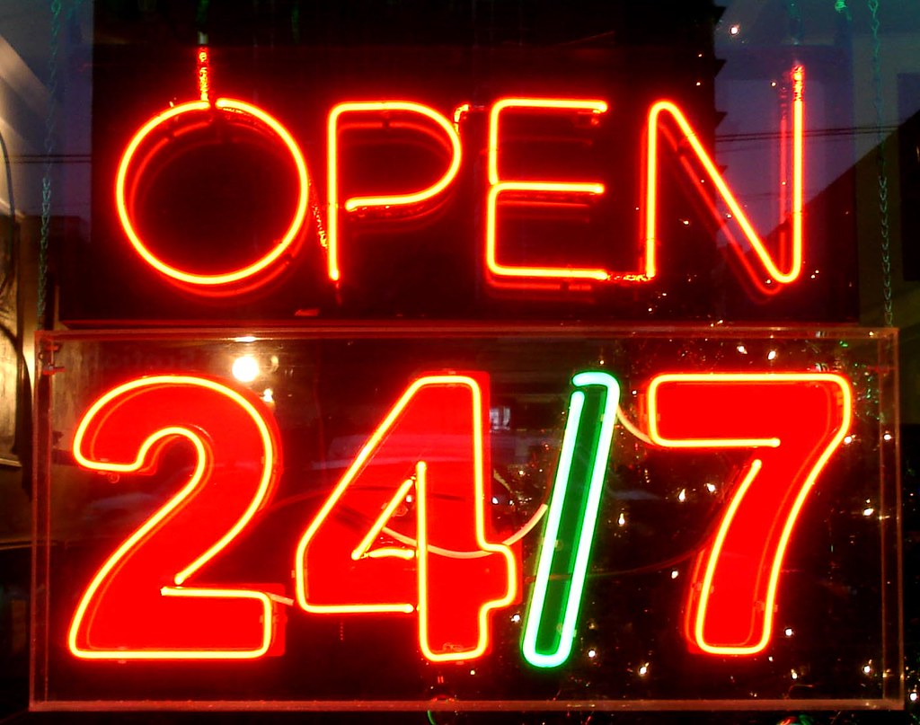 Image result for open 24/7