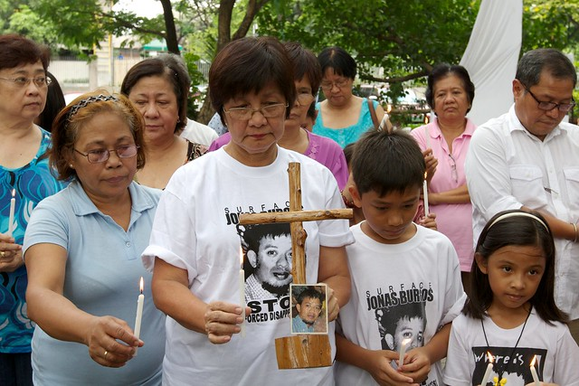 Families and supporters of victims of enforced disappearance