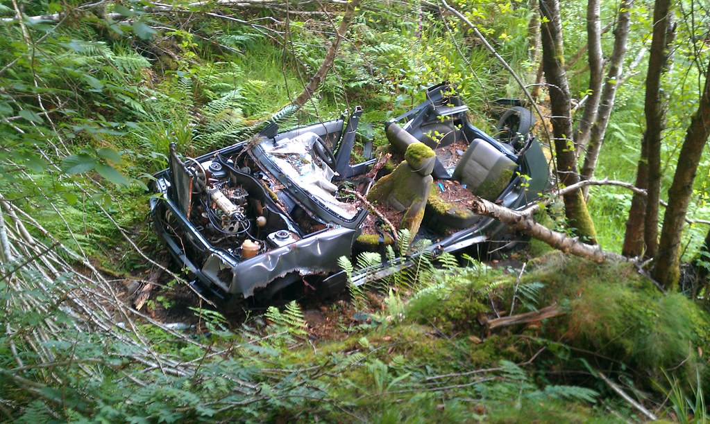 Car Crash In The Woods Found This In The Woods Along With Flickr