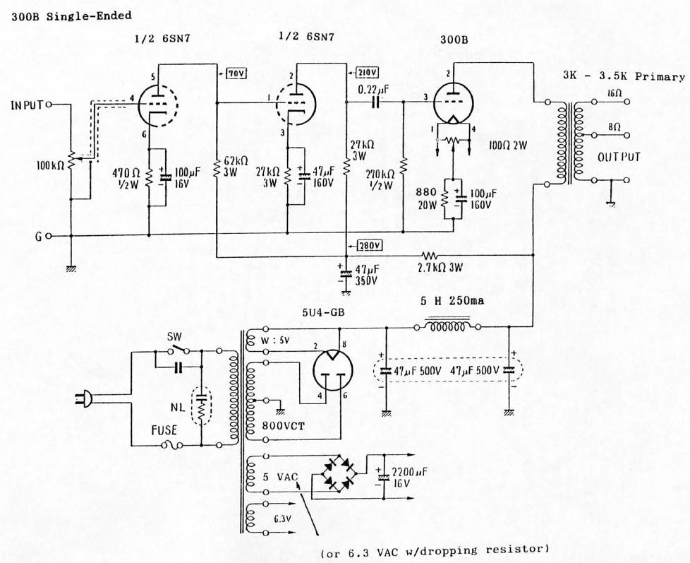 6sn7 300b single ended tube amp schematic diy badmale flickr diy 6l6 amp 6sn7 300b single ended tube amp schematic by badmale