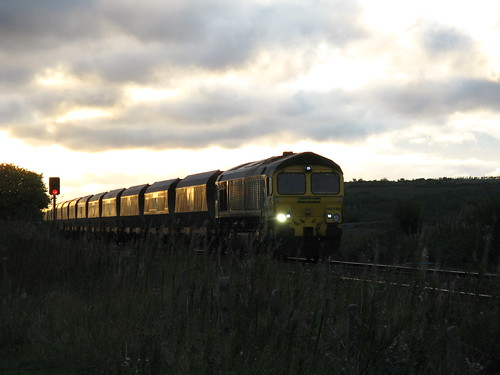 Freightliner Class 66 Coal Train at dusk | by Gary Chatterton 3 million Views Thank You All