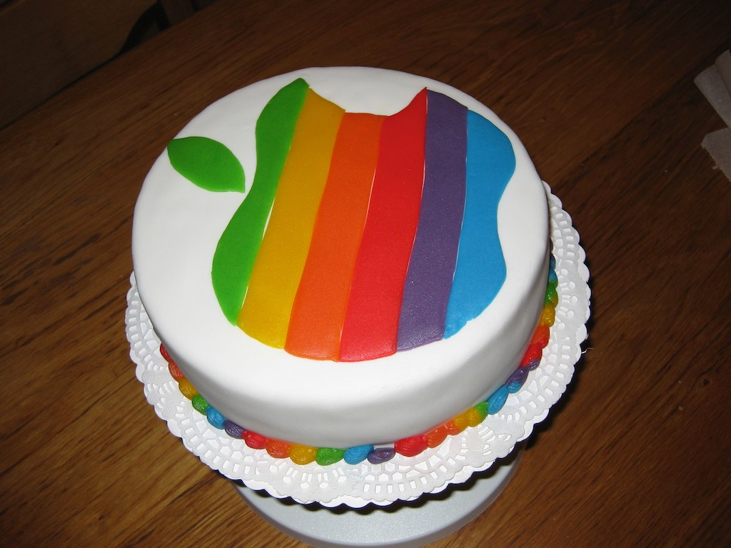 Apple Cake Apple Rainbow Logo Birthday Cake Yes That Is Flickr