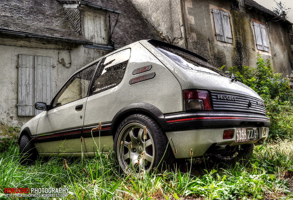 peugeot 205 gti hdr pts speedline sl434 rokusho09 flickr. Black Bedroom Furniture Sets. Home Design Ideas