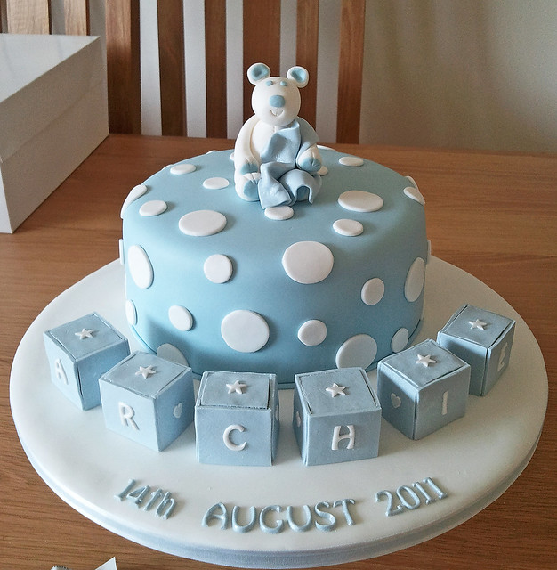 Boys Baby Shower Cake: Archie's Naming Day Cake