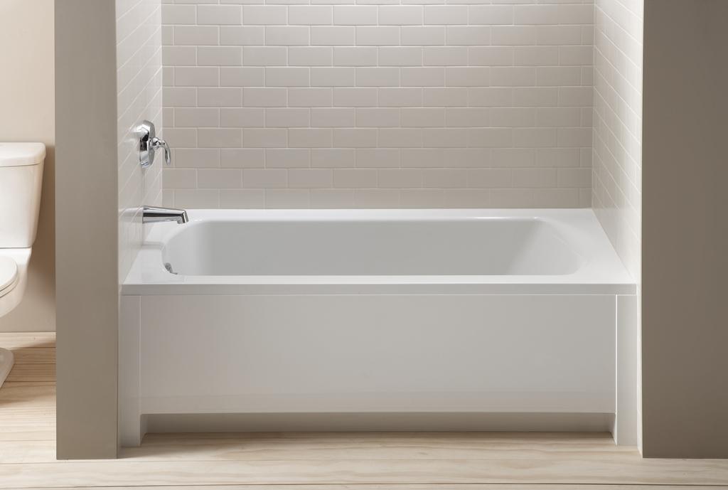 Lawson 5 39 alcove bath create the impression of custom for Bathtub styles types of bathtubs