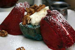 Red and Blue Velvet Pancakes | by Izznit