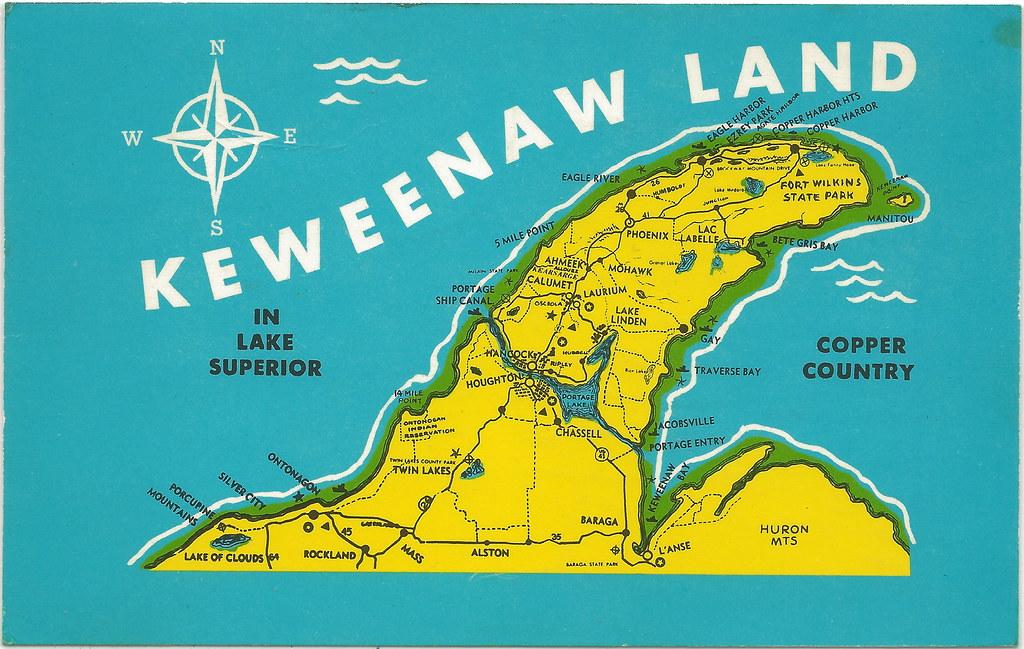 Image Result For Keweenaw Peninsula Map