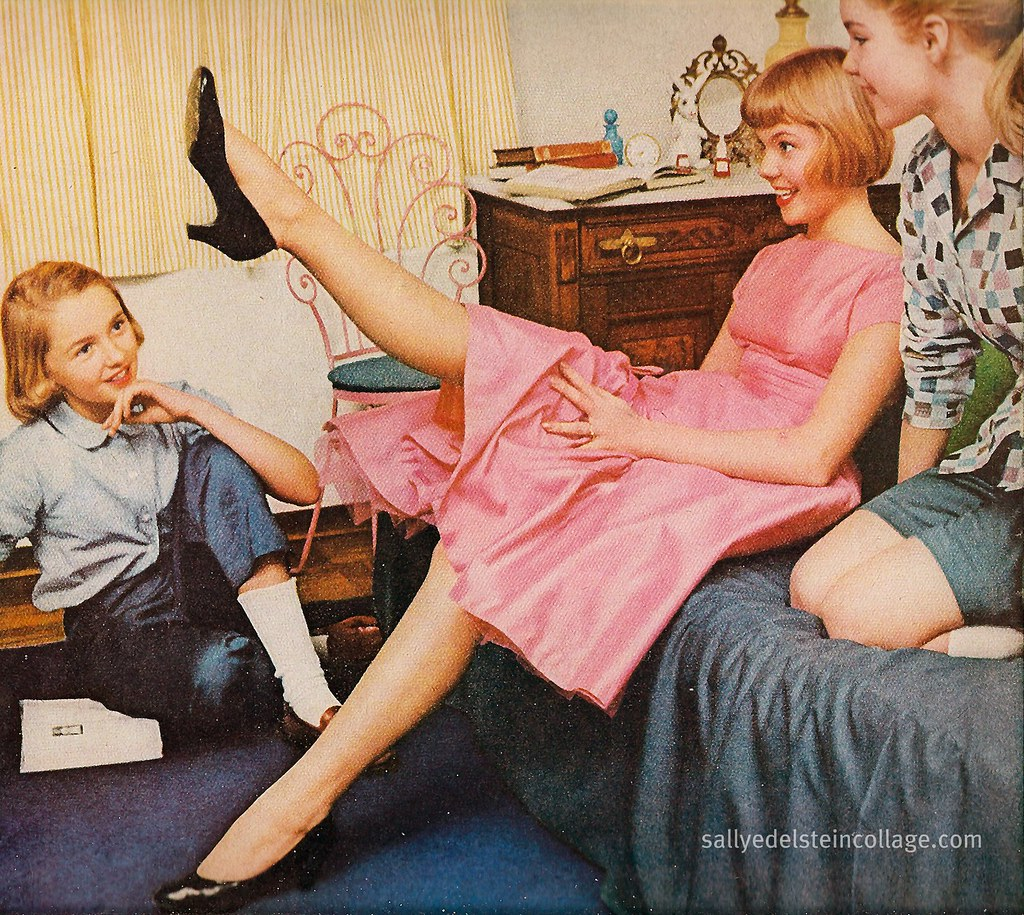 Ad Burlington Stockings Retro Teens 1956  Blog  Web -8377