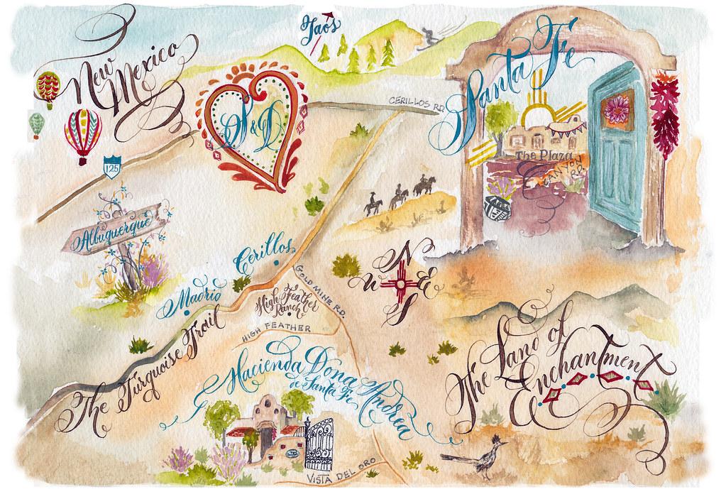 Wedding Invitations Albuquerque: Albuquerque And Santa Fe Wedding Map