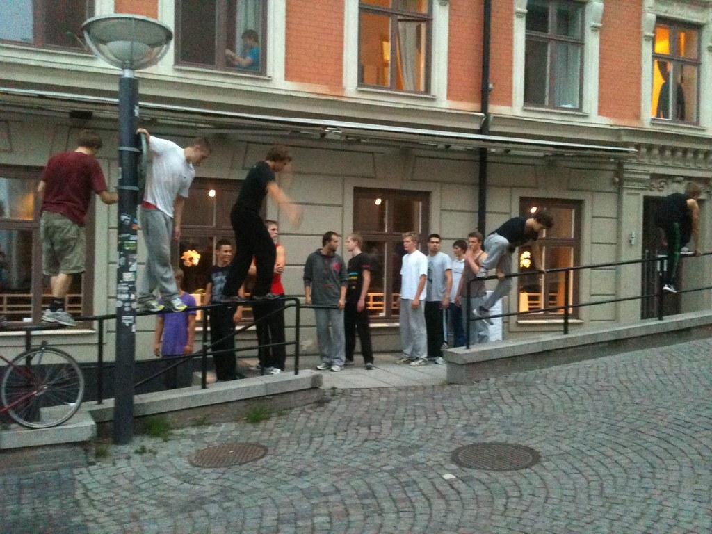 stockholm, slussen, parkour lesson | Federico | Flickr