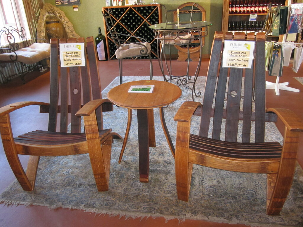 Patio Chairs Made Out Of Wine Barrels Presidio Winery In S Flickr