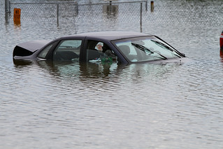 Flooded car Endicott 2011 | by waitscm