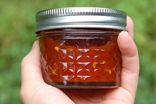 Jar of tomato jam by Eve Fox, Garden of Eating blog, copyright 2011 | by Eve Fox