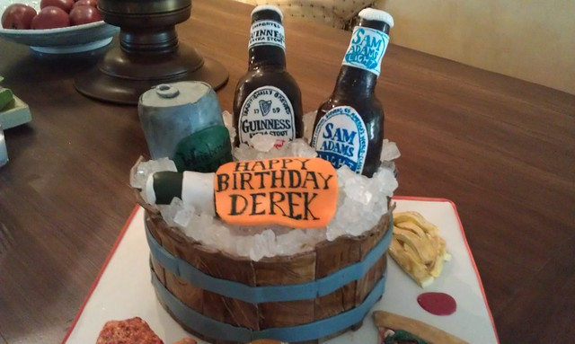 Beer Themed Birthday Cake 3 I Was Asked To Make A