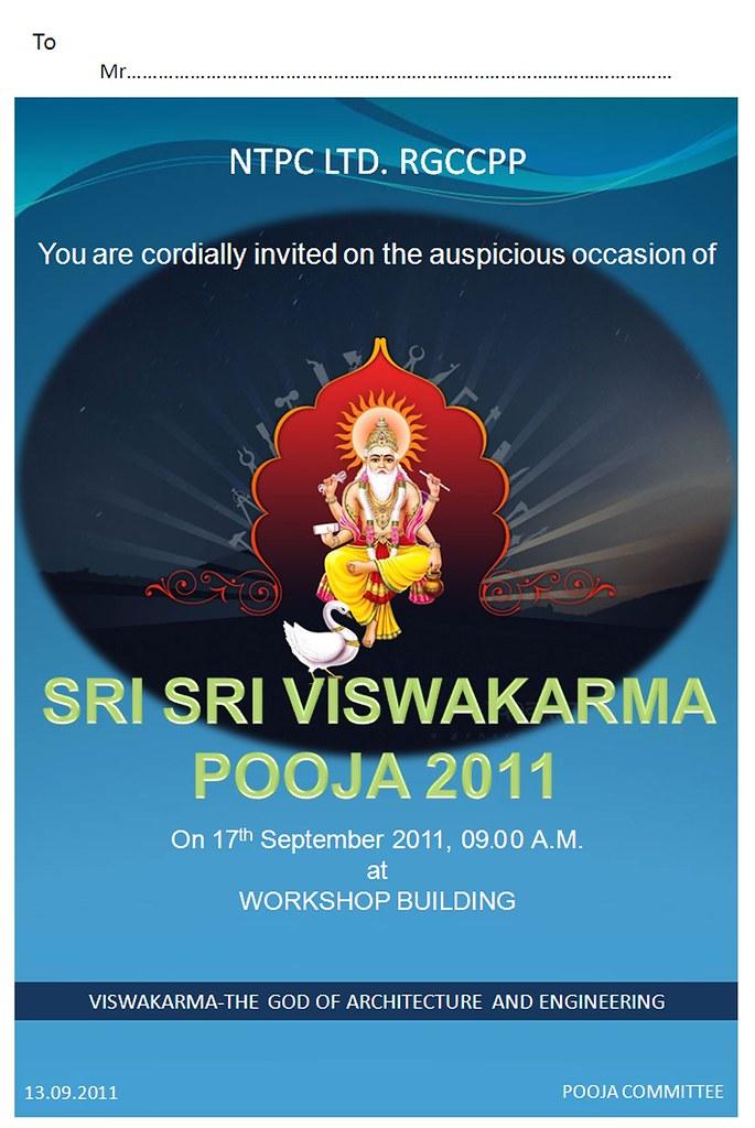Viswakarma pooja 2011 invitation card biju k joy flickr stopboris Gallery