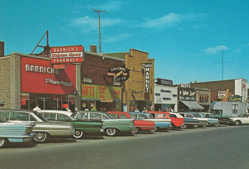 Ne Mackinaw Mi 1960s Barnichs Walgreen Agency Drug Store C