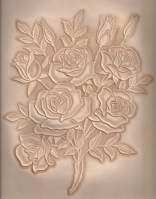 가죽공예 장미카빙 leather craft rose carving flickr photo