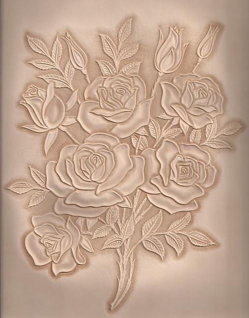 가죽공예 장미카빙 leather craft rose carving flickr photo sharing
