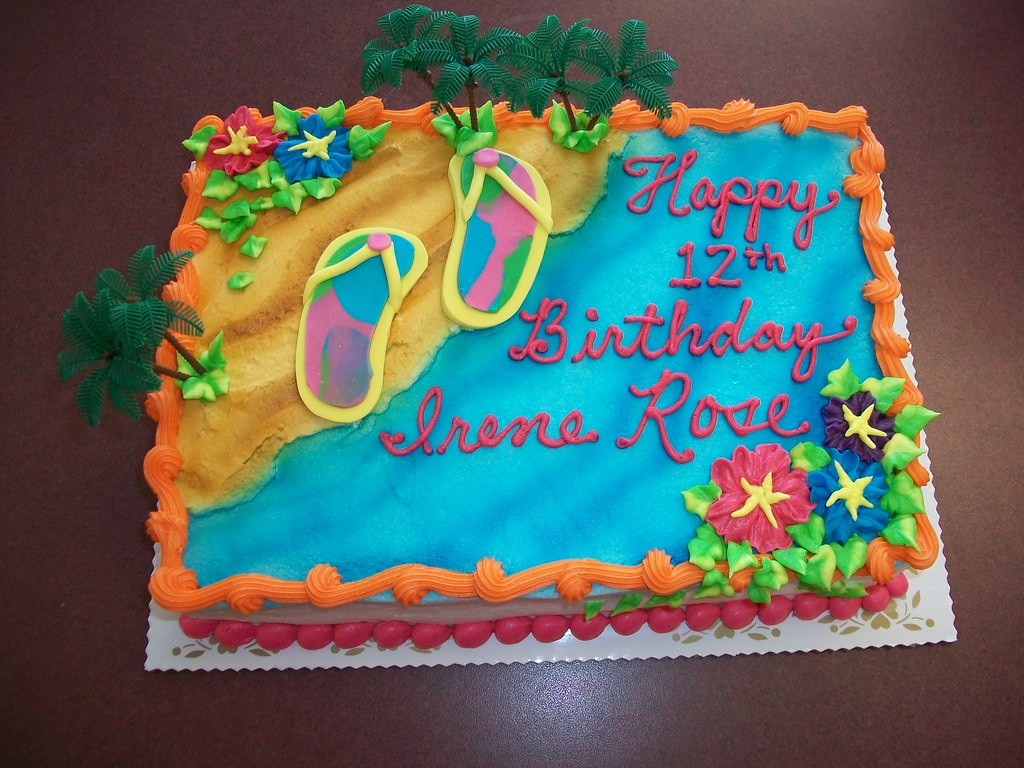Flip Flop Birthday Cake   custom   Linda\'s Kitchen   Flickr