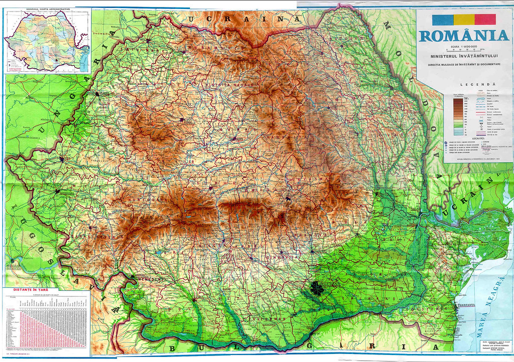 Harta Fizica A Romaniei1 Ina Jig Flickr
