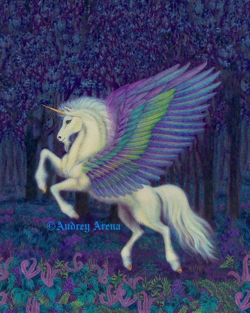 Unicorn With Wings And Rainbow UNICORN RAINBOW...