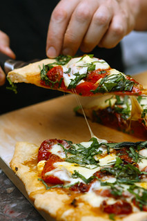 tomato basil pizza | by David Lebovitz