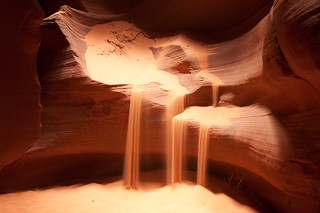 Sand Fall in Upper Antelope Canyon | by David M Hogan