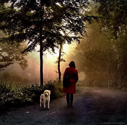 Waiting Woman with Dog | by h.koppdelaney