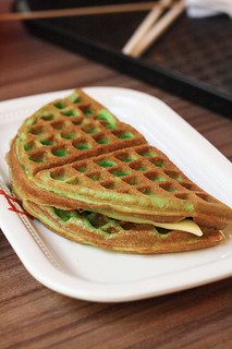 Sentosa Lunch Pandan Waffle Stuffed with Cheese | by Xiaolu // 6 Bittersweets
